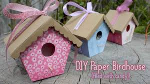 how to make paper birdhouses mother u0027s day crafts youtube