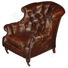 oversized tufted distressed leather man cave chair yourstore a