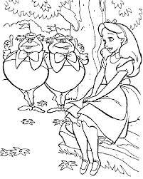 tweedle dee tweedle dum alice wonderland coloring pages