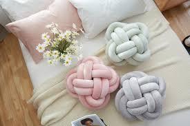 lovely cartoon knot ball cushion sofa waist back cushion baby