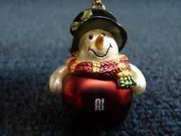 ganz personalized name snowman jingle bell ornament a thru c