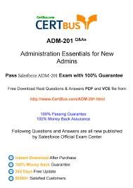 certbus salesforce adm 201 study materials braindumps with real
