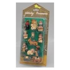 mini nativity ornaments findgift