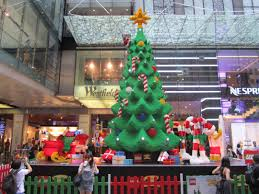 towering lego christmas tree comes to federation square melbourne