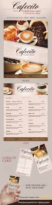 coffee shop menu template cafecito coffee shop menu loyalty card by ingridk graphicriver