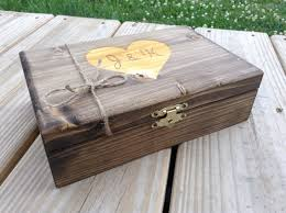 engraved memory box large personalized box engraved wooden keepsake by bloominbridal