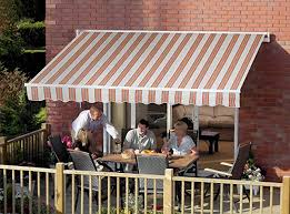 B Q Awnings Gablemere Easy Fit Awning 3 X 2m Kingston Terracotta Stripe
