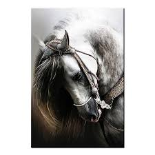 Equine Home Decor by Framed Animal Canvas Art Prints Horse Head Wall Art Canvas