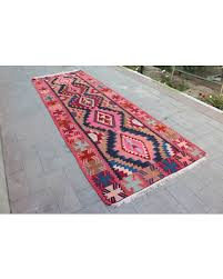 Large Kilim Rug Fall Is Here Get This Deal On 4 8 X 13 8 Pink Kilim Rug Handmade