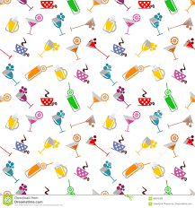 birthday martini white background seamless pattern with cocktail glass wine glass beer glass