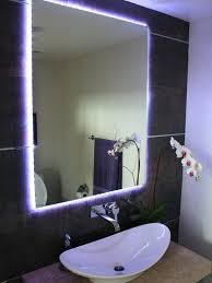 bathroom mirrors with lightscontemporary powder room with a