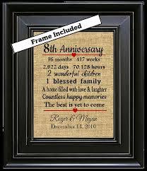 8 year anniversary gifts framed 8th wedding anniversary gift 8th anniversary gifts 8 years