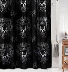 Black Bathroom Curtains Black Shower Curtain Free Home Decor Oklahomavstcu Us