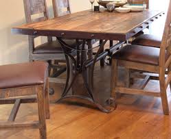 wood and iron dining room table dining room table and chairs under for sets wrought iron wood
