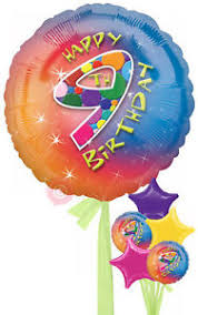 inflated balloons delivered no 9 happy 9th birthday girl inflated birthday helium balloon