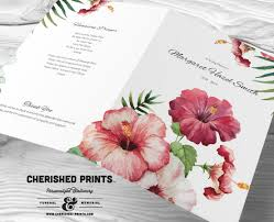 sle of funeral programs tropical flowers funeral program funeral folder celebration