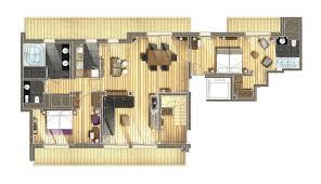 plan d une chambre d hotel chambres et suites à méribel hôtel le kaïla 5 étoiles