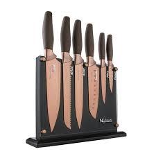 new england cutlery 7 piece titanum coated set u0026 reviews wayfair