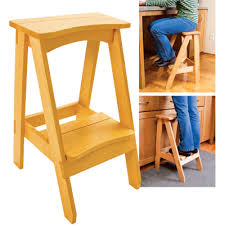 kitchen step stool with 1 more step placed in the middle of step