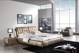 bedrooms simple black leather bed and black carpet bedroom ideas