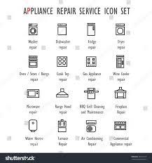 appliance repair service vector icon set stock vector 428310319