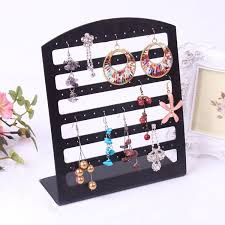 necklace earring display box images 2018 black transparent plastic earring display stand earring jpg