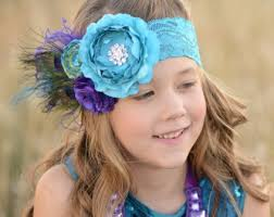 peacock headband infant vintage hairbows headbands for baby