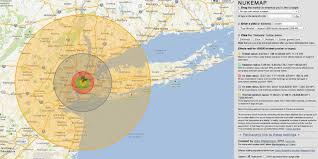 Radius On Map This Scary Interactive Map Shows What Happens If A Nuke Explodes