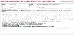 Biomedical Technician Resume Sample by Biomedical Equipment Technician Cv Work Experience Samples