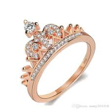 silver pretty rings images 2018 new pretty crown rose gold silver women rings lady luxury jpg