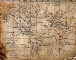Maps Of The World by Ancient Map Of The World The Torn Scorched Edges Stock Photo