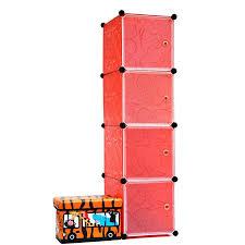 red storage ottoman cube 4 cubes childrens plastic diy creative
