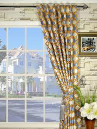 maia geometrical back tab velvet curtains