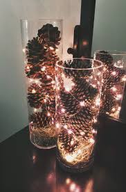 Red Heart Fairy Lights by Simple And Inexpensive December Centerpieces Made These For My
