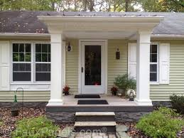 Faux Stone Column Wraps by Seamless Deck Siding Projects Creative Faux Panels
