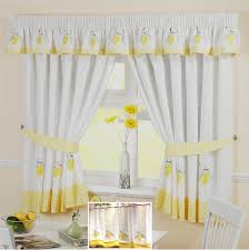 yellow lemon voile cafe net panel kitchen curtains many