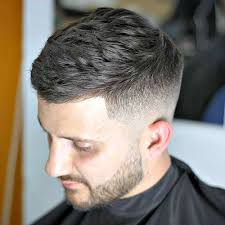 textured top faded sides 51 cool short haircuts and hairstyles for men mid fade side swept