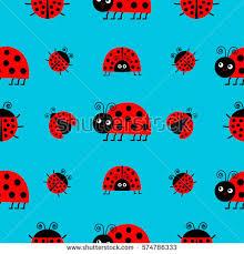 ladybug wrapping paper ladybug ladybird icon set baby collection stock illustration