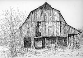 pen and ink barns sheds houses and other structures by joe macgown