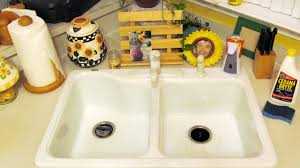 How To Clean Kitchen Sink by Spring Cleaning Removing Black Marks From A White Kitchen Sink