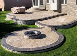 How Much Is A Stamped Concrete Patio by Stamped Concrete Patios Around A Pool Pattern Concrete For Pools