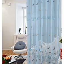 Blue Butterfly Curtains Pale Blue Curtains