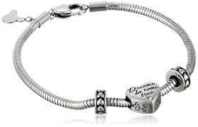 stainless charm bracelet images Disney stainless steel heart bead charm 2 stoppers jpg