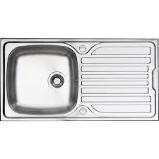 Deep Single Bowl Kitchen Sink by Stainless Steel Single Bowl Kitchen Sink U0026 Drainer 965 X 500 X