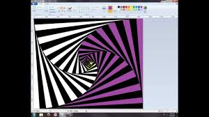how to make a 2d optical illusion using paint on windows