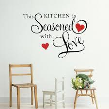 amazon com picniva this kitchen is seasoned with love wall quote amazon com picniva this kitchen is seasoned with love wall quote sticker home kitchen