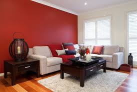 red color room home design