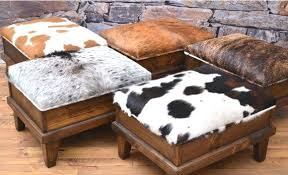 Printed Chairs Living Room by Ottoman Cow Print Chair And Ottoman Round Cow Print Ottoman