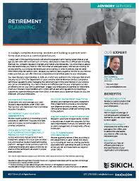 retirement planning services sikich