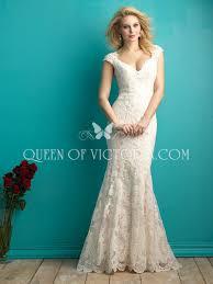anna queen neck chic u0026 romantic mermaid lace wedding dress cap